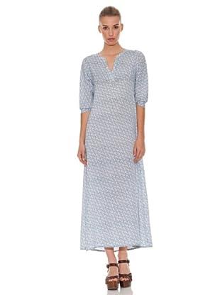 Hakei Vestido Largo Print (Azul)