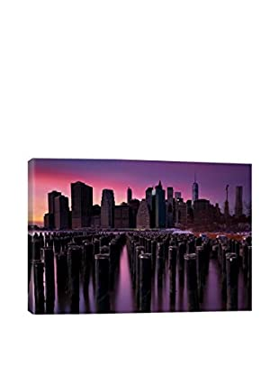 Manhattan Glow Gallery Wrapped Canvas Print