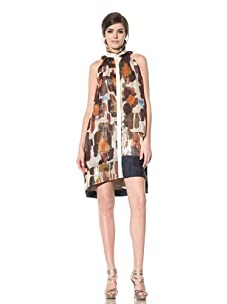 Chris Benz Women's New Reef Print Combo Maude Dress (Orange Multicolored)