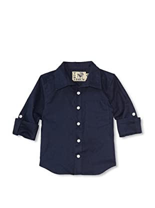 Tom and Drew Boy's Linen Shirt (Breakers Blue)