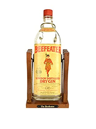 Uptown Down Previously-Owned Castle-Shaped Wood Caddy with a Beefeater Bottle