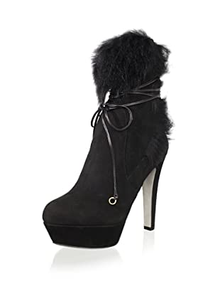Sergio Rossi Women's Platform Ankle Boot (Black)