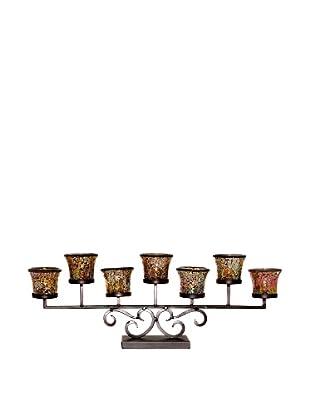 Pomeroy Versailles 7 Votive Centerpiece, Rustic/Champagne