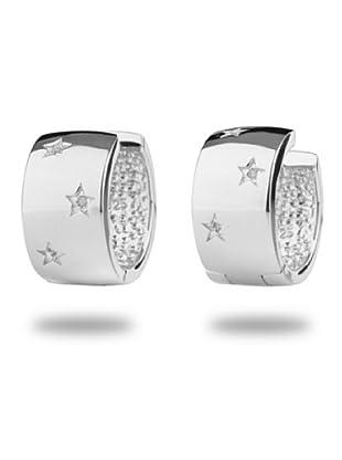 Secret Diamonds 60250060 - Pendientes de mujer de plata de ley con 6 diamantes