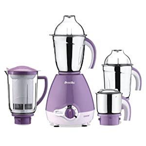 Preethi Lavender Pro 600-Watt Mixer Grinder