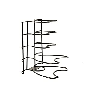 Kinetic Brushed Steel Wire Black Pan Organizer and Storage Unit 15011