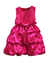 TheTickleToe Kids Baby Girls Rose Pink Satin Birthday Party Gown Dress 2-3 Years
