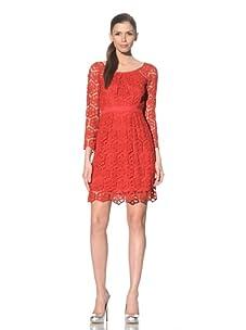 Yoana Baraschi Women's Ashley Crocheted Lace Dress (Pompeii Red)