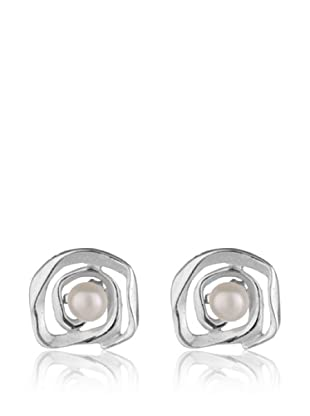 Yocari Pendientes Silver Synthetic Pearl