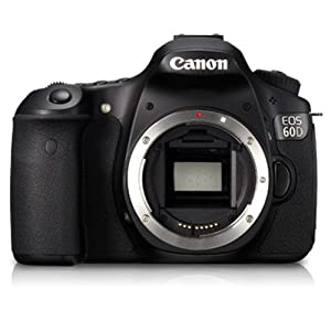 Canon EOS 60D 18MP Digital SLR Camera (Black) with Body Only, Memory Card