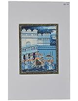 Ashoka Arts Silk Miniature Art Painting (14.5 cm x 11.5 cm)