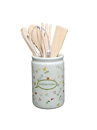 Tognana Soporte con Accesorios para Cocina 6 Piezas Dolce casa Floreal