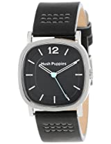 Hush Puppies Women's HP.3602L.2502 Orbz Stainless Steel Square Black Genuine Leather Watch