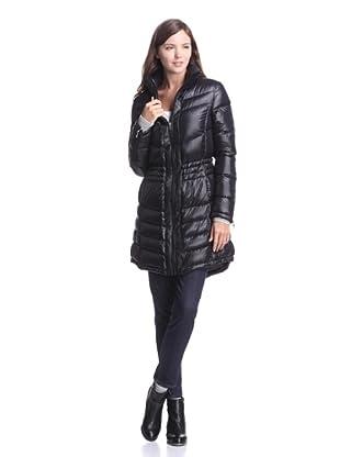 French Connection Women's Fishtail Hem Down Coat (Black)