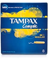 Tampax Compak Regular Absorbency 8ea