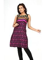 Raindrops Women Pink Cotton Kurti -349C/2Xl