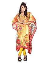 7 Colors Lifestyle Womens Georgette Kaftan (Abj7019Kfv2L _Multi-Coloured _Large)