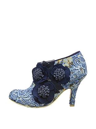 Irregular Choice Zapatos Abotinados Cheeky Moose (Azul)