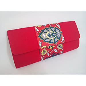 Creative Box Floral Beauty Red Clutch