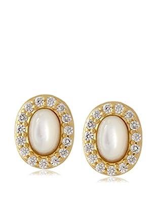 Belargo Pearl Oval Stud Earrings