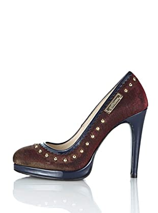Galliano Zapatos Fancy (Azul / Granate)