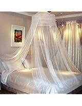 SLR NETS White Nylon Double Bed Mosquito Net hmn fo w ok 1