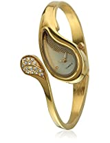 New Women Ti000E70500 Gold/Gold Analog Watch