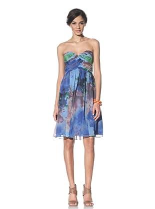 Donna Morgan Women's Strapless Sweetheart Dress (Blue)