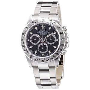 【クリックで詳細表示】[ロレックス]ROLEX デイトナ ブラック文字盤 クロノグラフ SS 腕時計 Ref.116520 黒 メンズ 【並行輸入品】