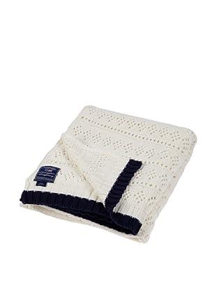 Lexington Company Manta Knitted (Blanco / Azul)