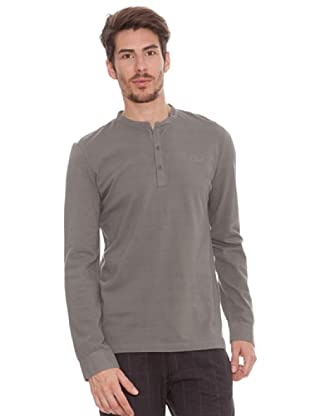 Timeout Camiseta Botones (gris topo)