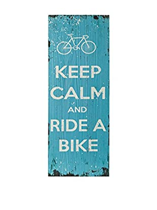 Especial Deco Vertical Panel de Madera Keep Calm Azul