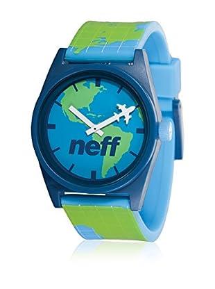 Neff Quarzuhr Daily blau/grün 35  mm