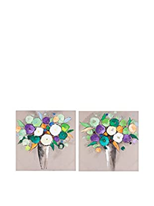 Vical Home Set Lienzo 2 Uds. Flowers