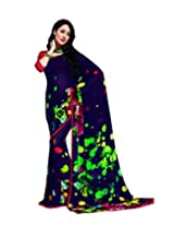 DivyaEmporio Vipul Women's Traditional Georgette Saree/Sari with Unstitched Blouse (Free Size)