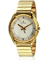 Titan Karishma Analog White Dial Men's Watch - NE1578YM01