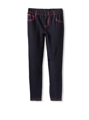 Hello Kitty Girl's 2-6X Knit Denim Legging (Dark Indigo)