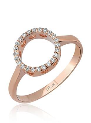 Divas Diamond Anillo DVS235010 (Oro Rosa)
