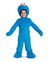Disguise 76873S Cookie Monster Extra Deluxe Plush Costume, Small (2T)