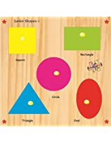 Kinder Creative-KCS-16-Junior Shapes with Knobs(Multicolour)