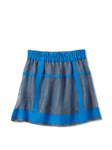 kicokids Girl's Structured Elastic Waist Skirt (Surf)