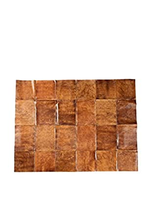 Patchwork Leather Rug, Brown, 5' 9
