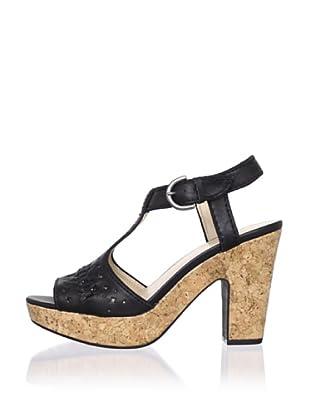 Adrienne Vittadini Women's Yanni Platform Sandal (Black)