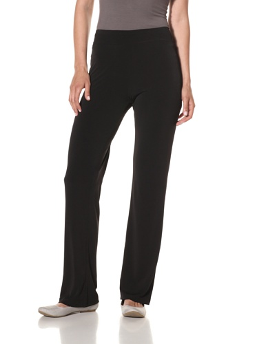 Nicole Miller Women's Solid Swing Pant (Black)
