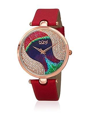 Bürgi Uhr mit schweizer Quarzuhrwerk Woman rot