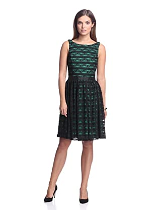 Alexia Admor Women's Sleeveless Lace Dress (Emerald/Black)