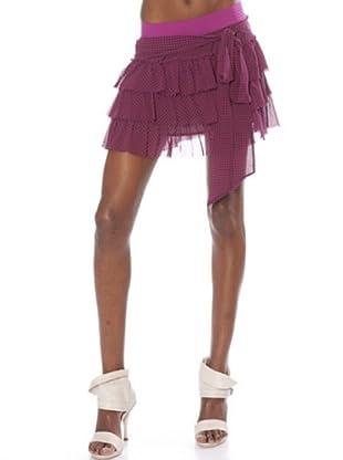 Fornarina Mini Falda Altea (malva / negro)