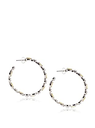 CZ By Kenneth Jay Lane Marquis Hoop Earrings, Silver, One Size