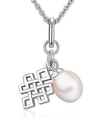 Chakra Pearls Halskette  weiß