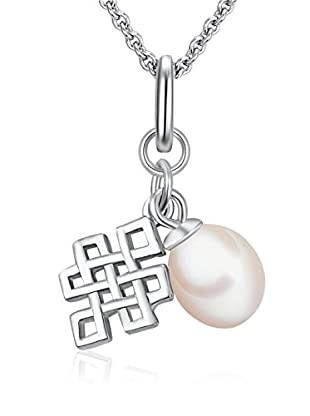 Chakra Pearls Collar  Blanco